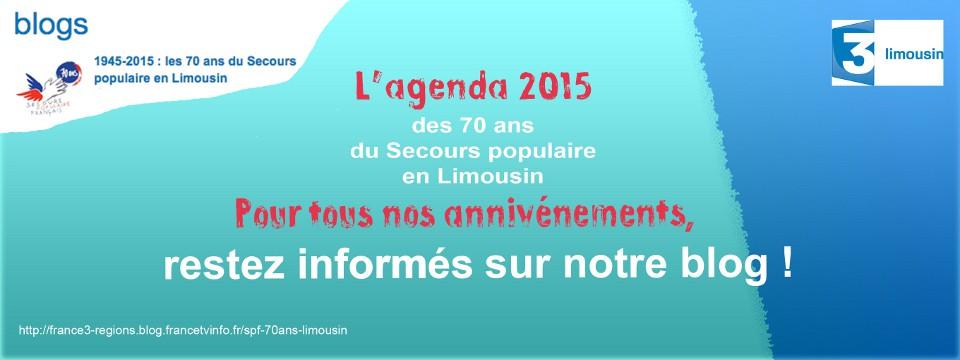 L'agenda 2015 du Secours populaire en Limousin