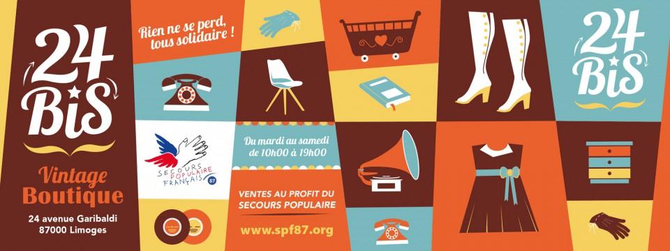 24 BIS : La boutique vintage solidaire du Secours Populaire