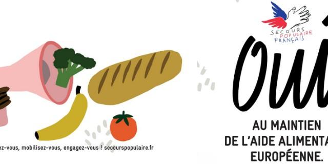 Mobilisation du Secours Populaire de Haute-Vienne pour défendre l'aide alimentaire européenne