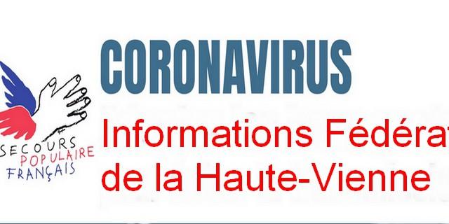 Informations Coronavirus-Fédération de la Haute-Vienne